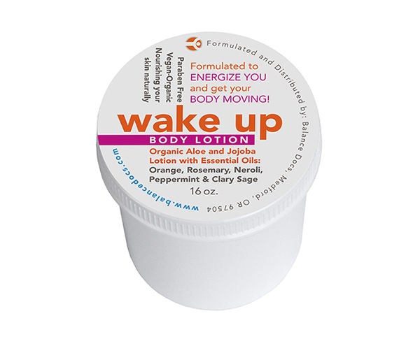 Packaging Wake Up Body Lotion