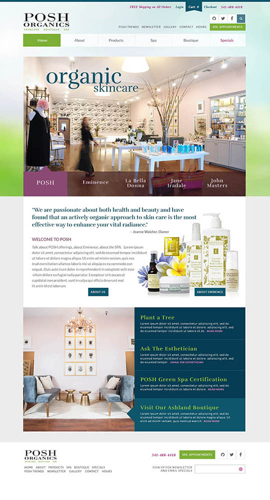 Website Posh Organics