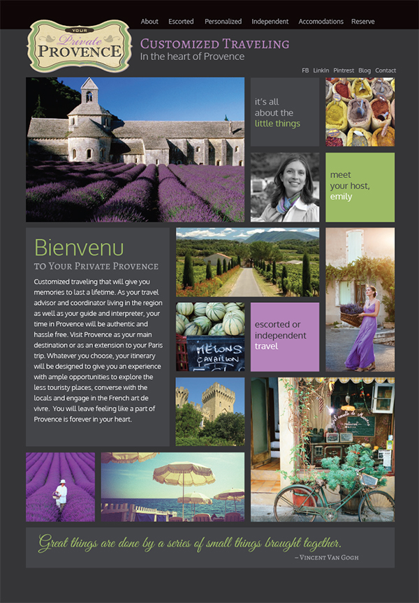 Website Private Provence