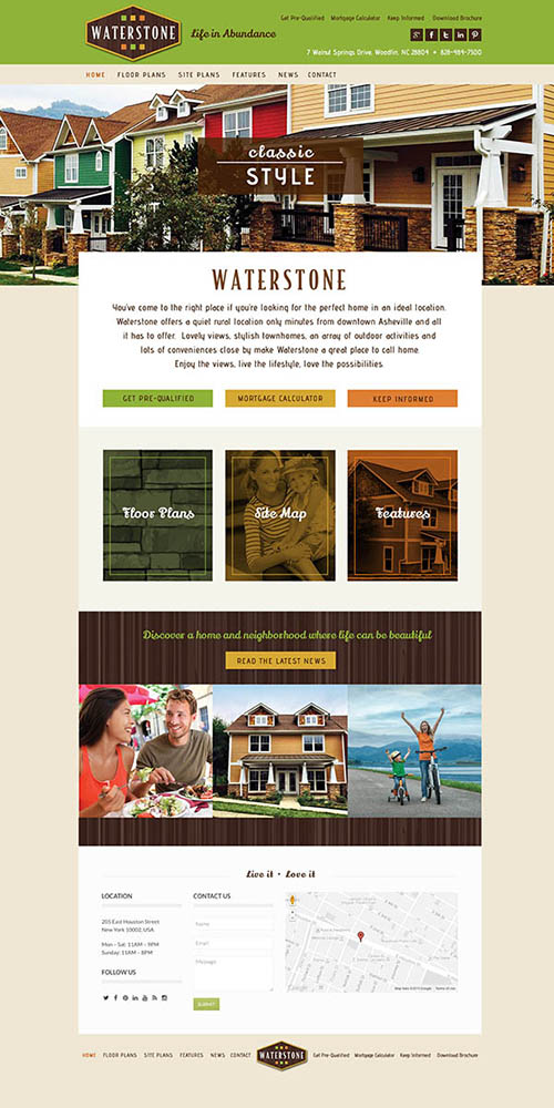 Website Waterstone Townhomes